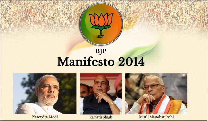 BJP  2014 Election Manifesto