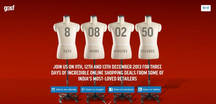 gosf.in- India's 2013 Great online Shopping festival