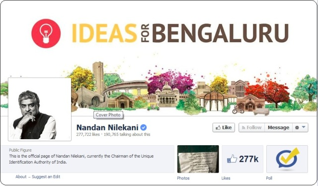 nandan nilekani for bangalore