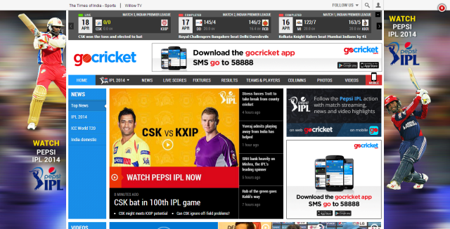 gocricket.com   Live Cricket Score  Cricket News  Cricket Schedules and Match Results