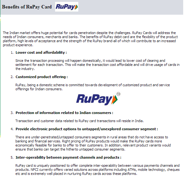 National Payments Corporation of India - RuPay