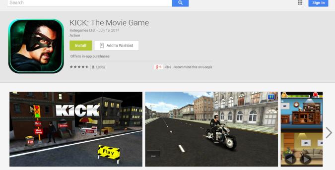 KICK  The Movie Game