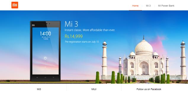 Xiaomi Mi India